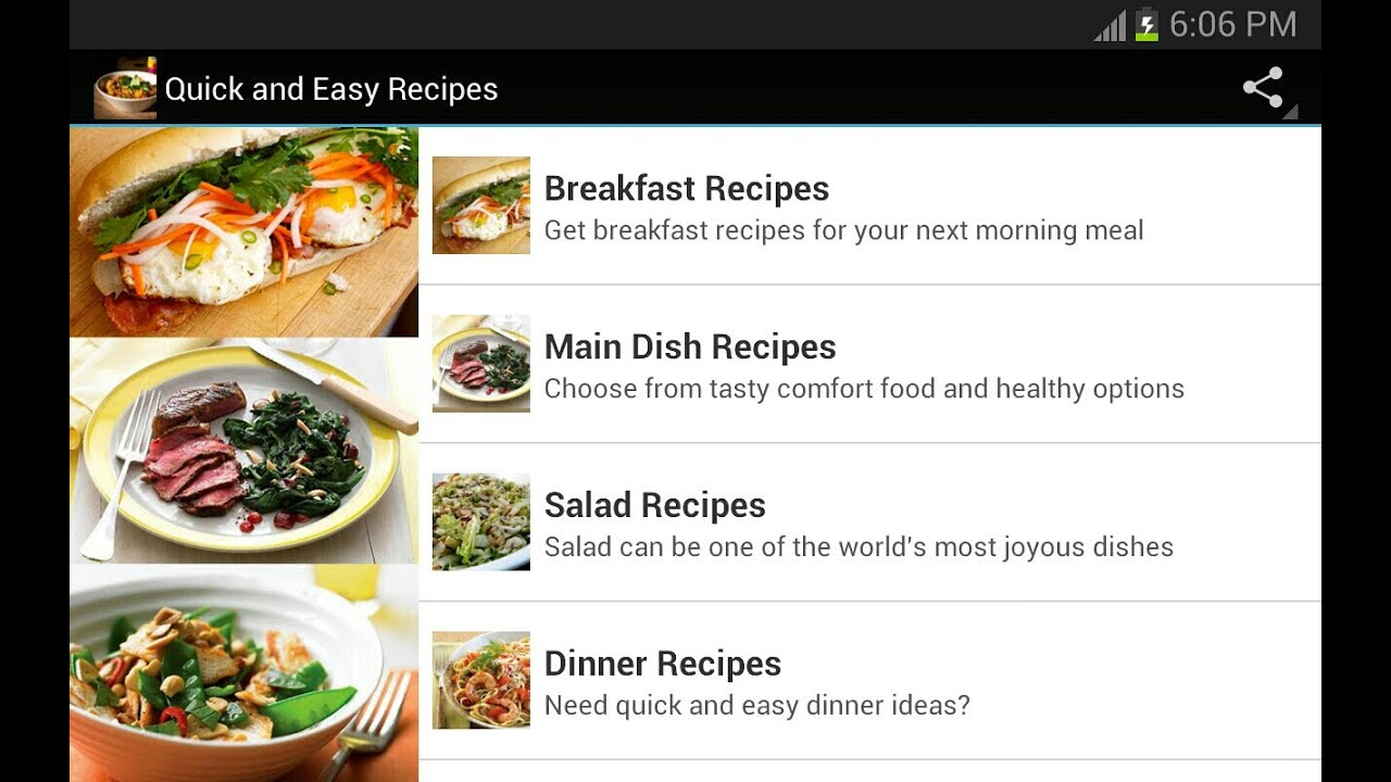 Quick and easy recipes mobile app youtube quick and easy recipes mobile app forumfinder Gallery