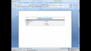 Word - Criando tabela, formatando, mesclando as celulas, inserindo imagem. thumbnail
