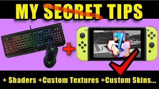 How I use Mouse & Keyboard with Nintendo Switch Minecraft (+ Shaders AND skins & textures)