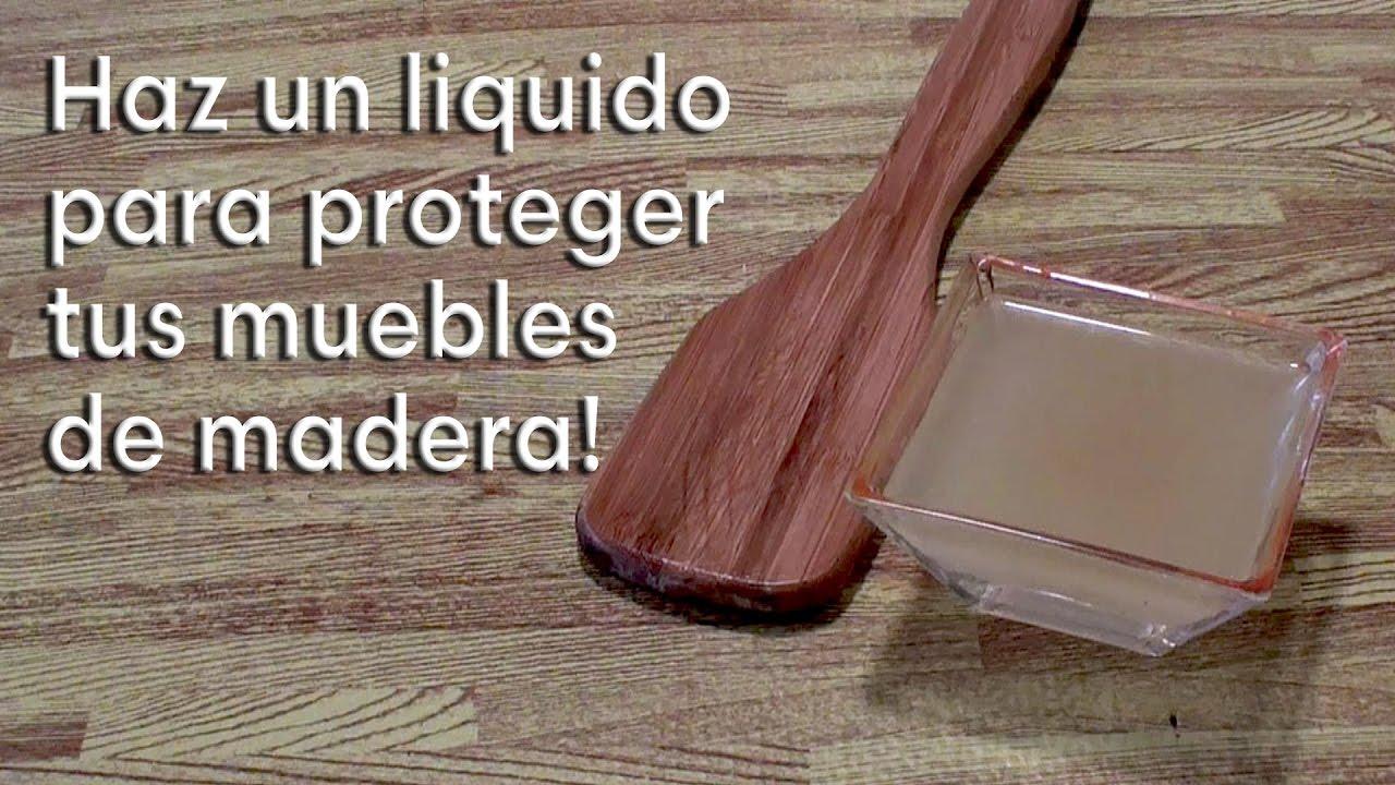 Como hacer un protector para madera con ingredientes caseros - YouTube