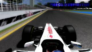 rFactor F1 2012 Jenson Button Onboard Albert Park Melbourne Australian Grand Prix 1080p Full HD