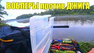 Воблеры против джига летом на реке! Щука и судак на спиннинг! Рыбалка в июле!