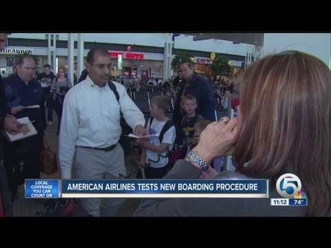 American Airlines Tests New Boarding Procedure