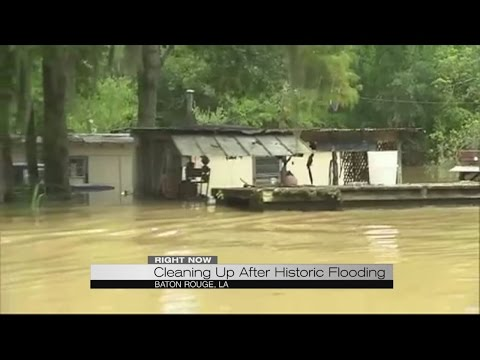 Cleaning up after Historic Flooding