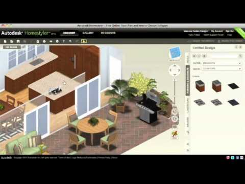 Autodesk homestyler formerly project dragonfly youtube Kitchen design software homestyler