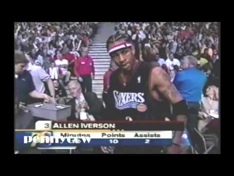 Allen Iverson Full Highlights vs. the Pistons - 2003 NBA Playoff Game 1