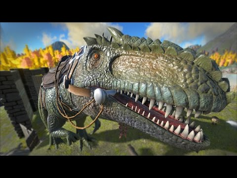 ARK: Survival Evolved - Taming A GIGANOTOSAURUS!! [49]