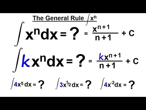 Calculus 2: How Do You Integrate? (6 of 300) The General Rule of Integrating x^n