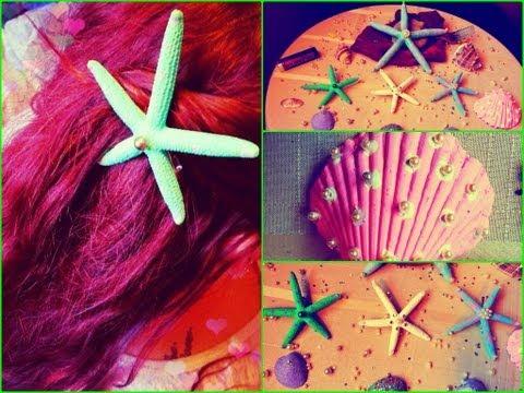 Little Mermaid Inspired DIY Hair Clip