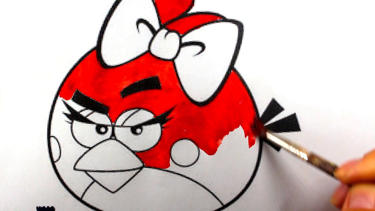 how to draw angry birds red angry bird coloring pages for kids