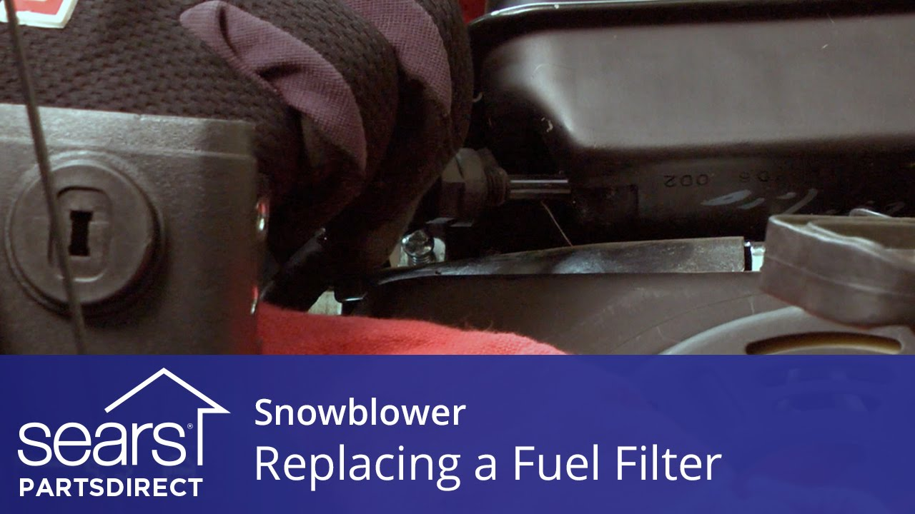 hight resolution of replacing a fuel filter on a snowblower