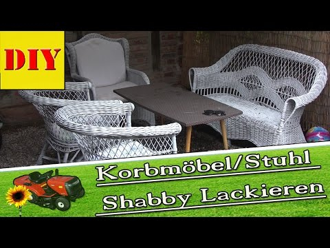 gartenm bel korbm bel st hle in shabby lackieren von. Black Bedroom Furniture Sets. Home Design Ideas