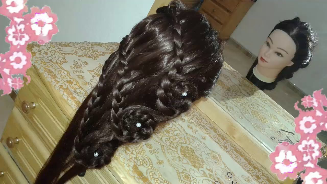 nuevos peinados 2015 faciles rapidos y bonitos con trenzas de moda para niña  en cabello largo