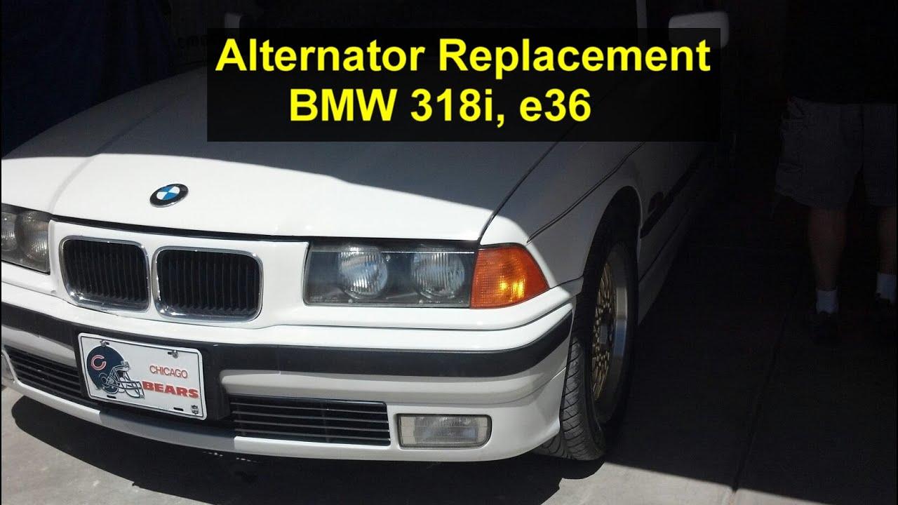 how to replace the alternator on bmw 318i e36 4 cylinder votd rh youtube com 2007 BMW 530I Engine Diagram 2001 BMW 325I Motor Layout