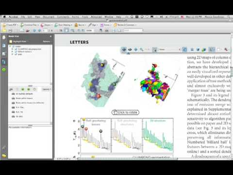 """Demonstration of the (First) 3D PDF Published in the Journal """"Nature"""""""