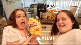 Air Frying Random Food! | Herrin Twins