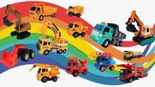 挖土機怪手挖掘機、傾卸卡車 、高空作業車、消防雲梯車、拖吊車、水泥攪拌車|工程車滑道賽車比賽|玩具開箱遊戲Construction vehicle toy【 love TV小寶愛你笑】