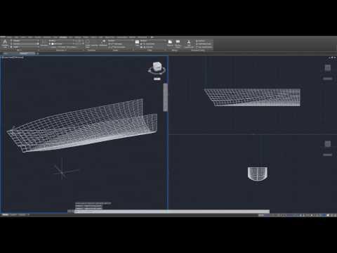 Beginner Tutorial 1 (AutoCAD 2017) - Designing a Yacht (Boat)