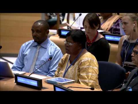 Ms. Hendrica Okondo - Civil Society Platform for SRHR - June UN Post-2015 negotiations