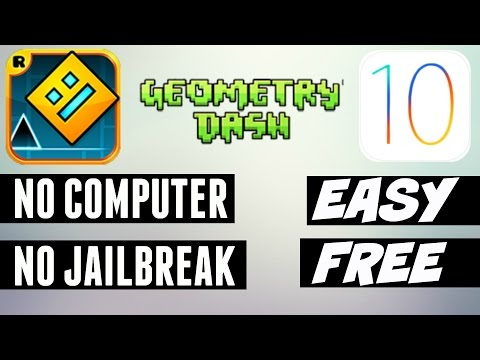 (NEW) Geometry Dash For Free On IOS 10/9.3.5! NO COMPUTER/NO JAILBREAK