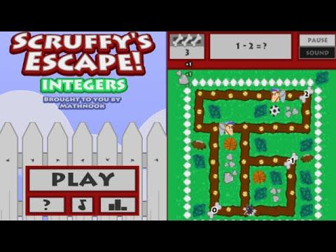 Scruffy's Escape Integers Game Overview