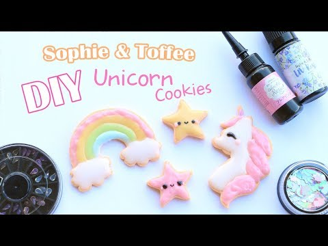 Polymer Clay and UV Resin Unicorn Cookies│Sophie & Toffee Subscription Box December 2017