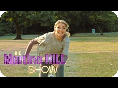 Frisbee spielen - mit vollem Einsatz! | Die Martina Hill Show | SAT.1 TV