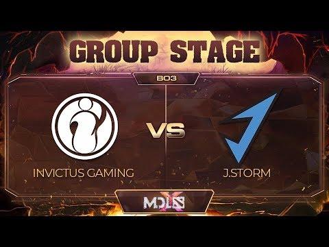 Invictus Gaming vs J.Storm vod