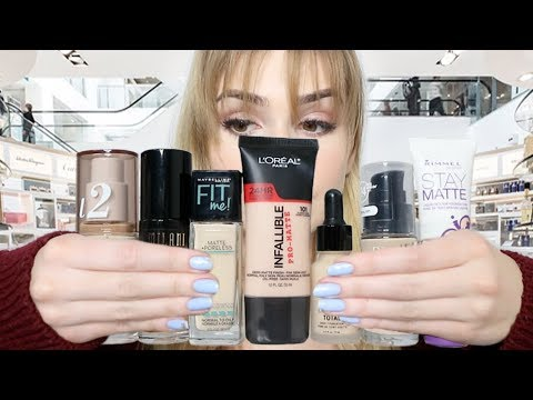 Trying 7 of  The Best  DRUGSTORE FOUNDATIONS For A WEEK! | Hit or Miss