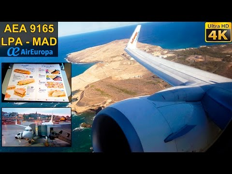 FLIGHT EXPERIENCE | Gran Canaria - Madrid | AIR EUROPA B737