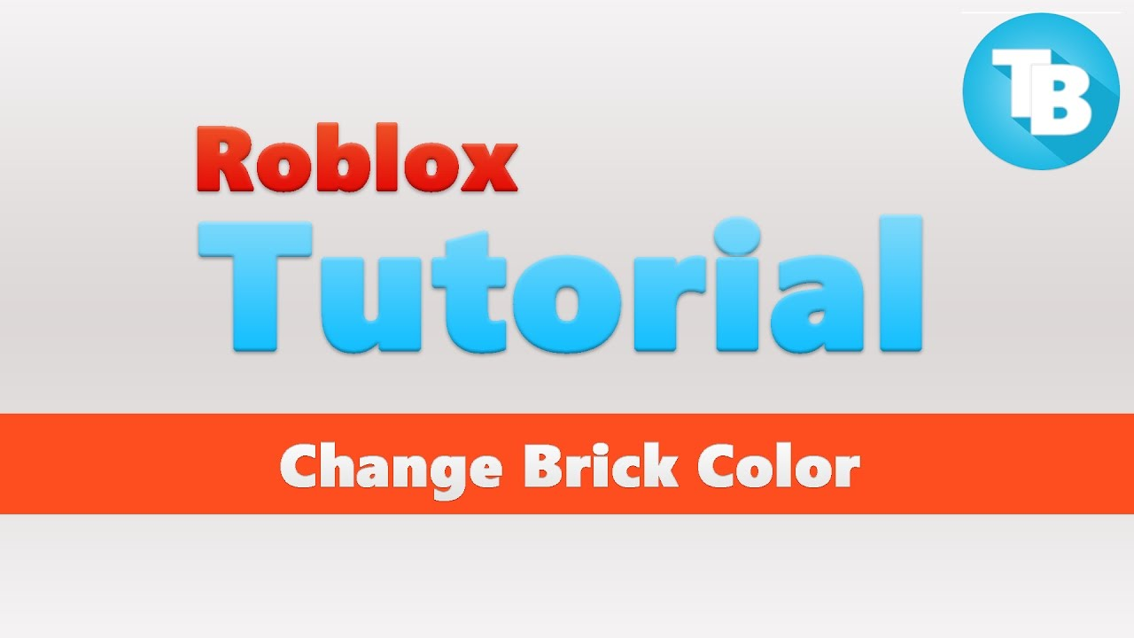 Roblox How To Change Brick Color Touch Function Youtube