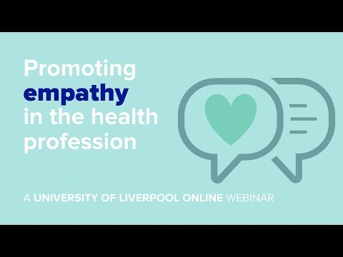 Webinar: Promoting empathy in the health profession