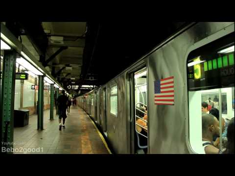 IRT Eastern Pkwy Subway: (5) & (4) Trains at Borough Hall [R142/A]