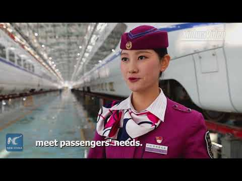 Crew of China's Chongqing-Guiyang high-speed railway make debut