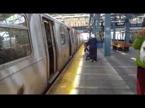 MTA NYC Subway: R68 (D), R160A (F) (Q) and R160B (N) (Q) trains at Coney Island - Stillwell Ave