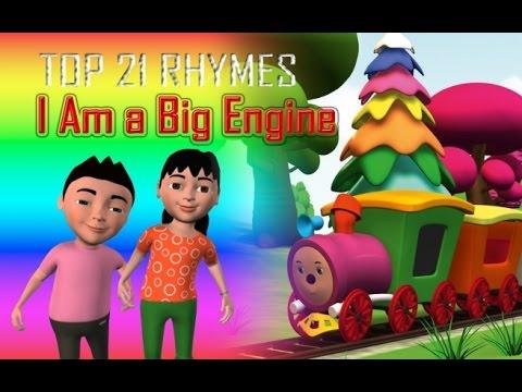 Download I Am a  Big Engine| Nursery Rhyme For Children | 3D Animation | gupthaskids
