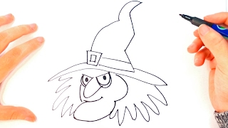 How to draw a Witch for Kids | Witch Easy Draw Tutorial