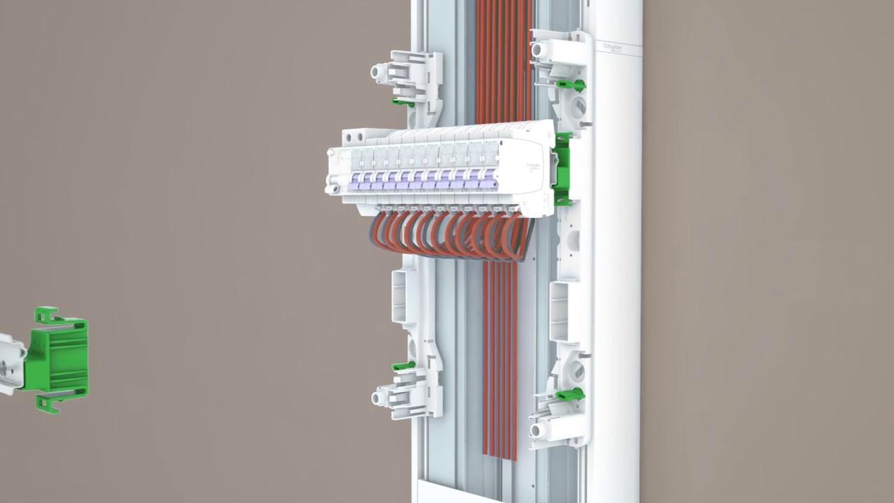 Schneider Electric R9h13423p Resi9 Porte Styl Pratic Coffret 13 Modules 3 Rangees