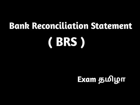 bank reconciliation statement format in tamil