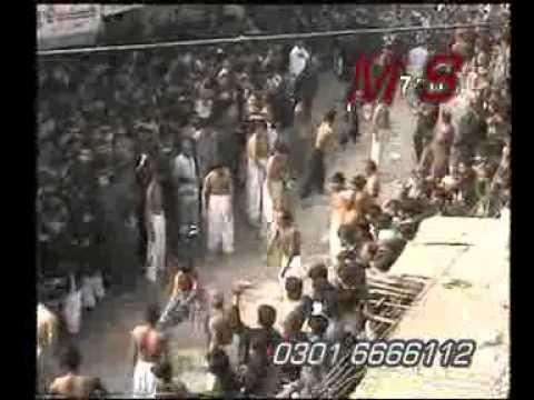 mzloom baba.flv 10 muharram imamia colony 2009 by wajahat shah