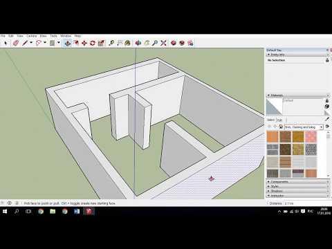 Как сделать простой дом в SketchUp 2016