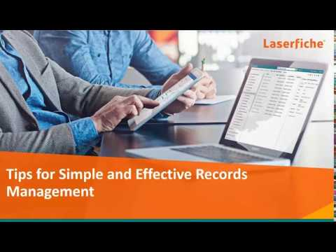 Tools for Simple & Effective Records Management