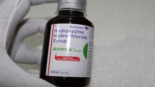 Atarax Syrup Review | Hydroxyzine Hydrochloride Uses Side Effects