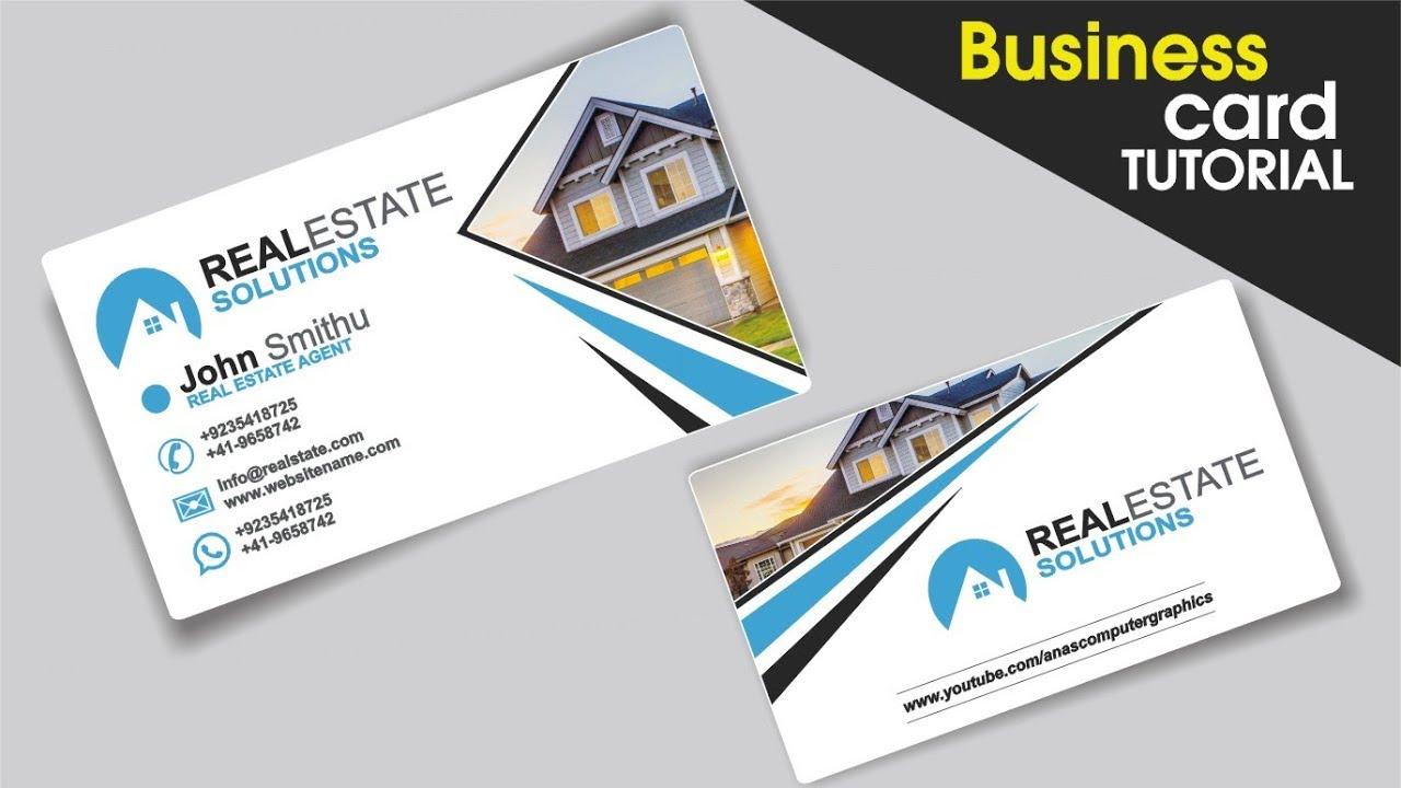 business card design in CorelDraw Tutorial In Urdu / Hindi with Anas ...