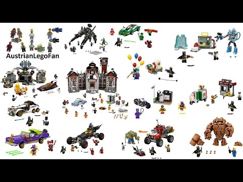 All boxed Lego Batman Movie Sets 1st Wave 2017 - Lego Speed Build Review