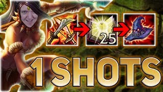 FULL AP NIDALEE JUNGLE IS INSANE! WELCOME TO ONE SHOT CITY - Best Junglers Patch 7.13