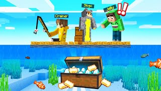 We Found A TREASURE Under Our MINECRAFT RAFT!