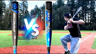 PRIME vs META - WHICH IS BETTER? Louisville Slugger Composite Showdown - BBCOR Baseball Bat Reviews