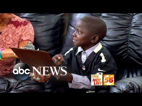 'GMA' Hot List: Saints New Kid Reporter Interviews Robin Roberts