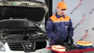 Hoe eenluchtfilter motor op eenNISSAN QASHQAI 1 vervangen HANDLEIDING | AUTODOC